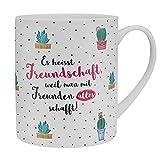 """Die Geschenkewelt XL-Tasse 46215 """"Es heisst Freundschaft, weil man mit Freunden alles schafft!""""..."""