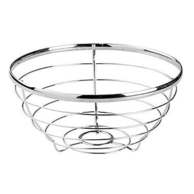 InterDesign Axis Fruit Bowl for Kitchen Countertops - Chrome