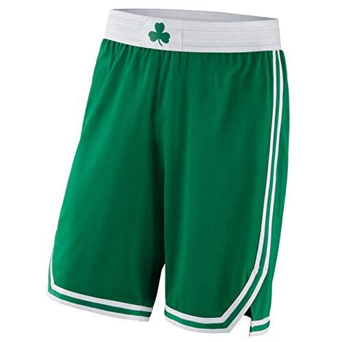 XMYM Celtics 0# Tatum Basketball Jerseys Suits for Men, Retro Comfort Sports Fitness Clothing, Breathable Quick Dry Mesh Tops Shorts Set-Green B-M