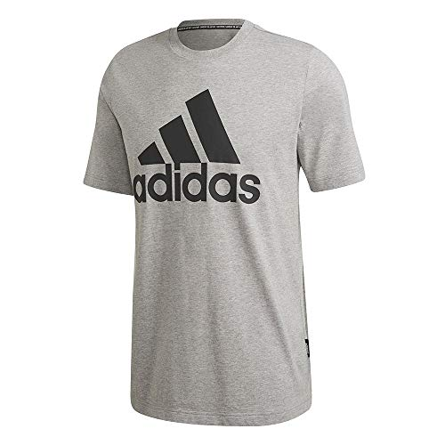 adidas Herren MH BOS Tee T-Shirt, medium Grey Heather, M