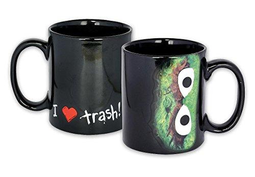 Sesamstraße Tasse I Love Trash! Cooler Kaffeebecher zur Kultserie mit Oskar aus der Tonne