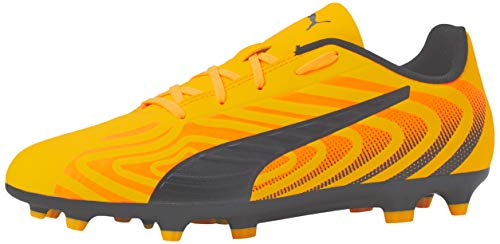Puma Unisex-Kinder One 20.4 Fg/ag Jr Botas de fútbol, Gelb (Ultra Yellow Black-Orange Alert), 34 EU