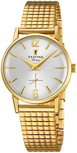 Festina Extra Reloj para Mujer Analógico de Cuarzo con Brazalete de Acero Inoxidable bañado en Oro F20257/1