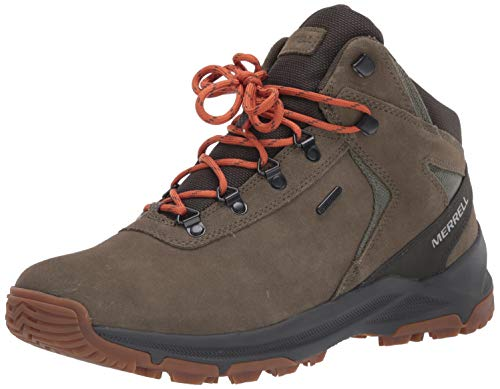 Merrell mens Erie Mid Waterproof Hiking Boot, Olive, 11.5 US