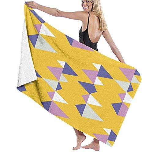 Toallas de Playa Siglo Retro geométrico de Patrones sin Fisuras Toalla de Piscina Esterilla de Yoga Seque Rápidamente Absorbente Prevención de Arena para Viaje 80*130 cm