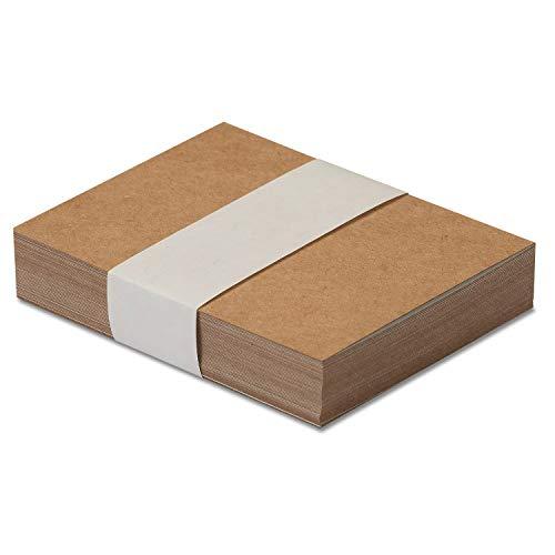 Kraftpapier I Rückseite weiß beschichtet I DIN A7 290g/m² I 50 Blatt I DIY Karton individuell gestaltbar I Verpackungen Bastel-Papier Blanko ohne Motiv und Ökologisch I dv_812