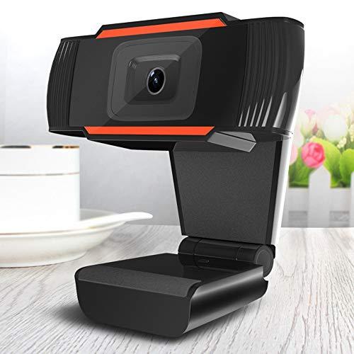 Mobiliarbus Desktop Webcam 720P HD Webcam Cámara de transmisión para juegos Reuniones Webcam de escritorio portátil Cámara USB para computadora Instalación de unidad gratuita Enfoque automático rápido