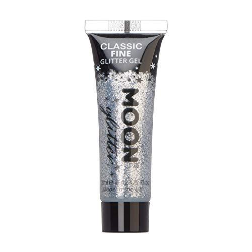 Moon Glitter - Gel mit klassischem feinem Glitter - 12ml - Silber - Glitzer Gesichtsfarbe