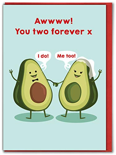 Grappige Humorous 'You Two Forever' trouwkaart