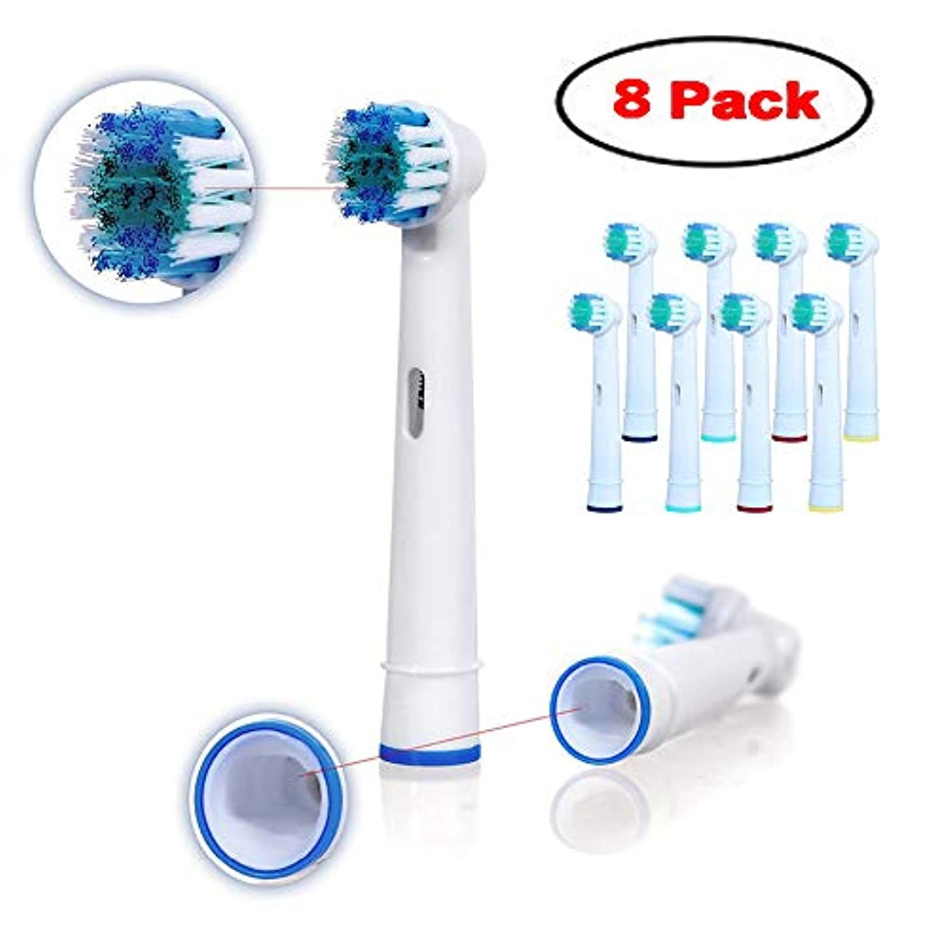 Toothbrush Replacement Heads Refill for Oral-B Electric(8 Count)