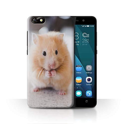 Stuff4® hoes/case voor Huawei Glory Play 4X / gouden hamster patroon/schattige huisdieren collectie