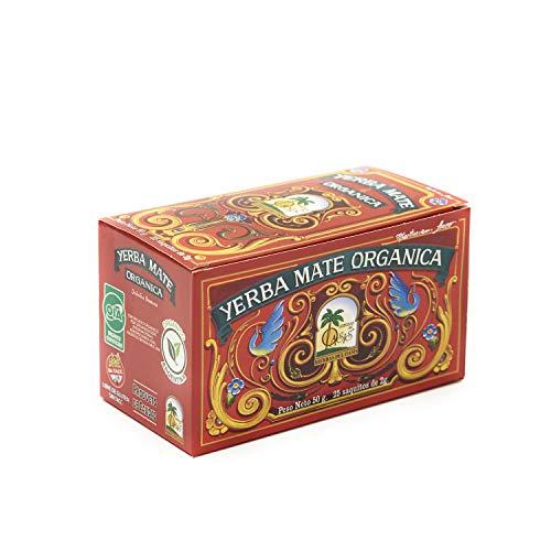 Sacos de té Yerba Mate - Mate Cocido Hierbas del Oasis - Bebida Tradicional Sudamericana (25 Sacos)