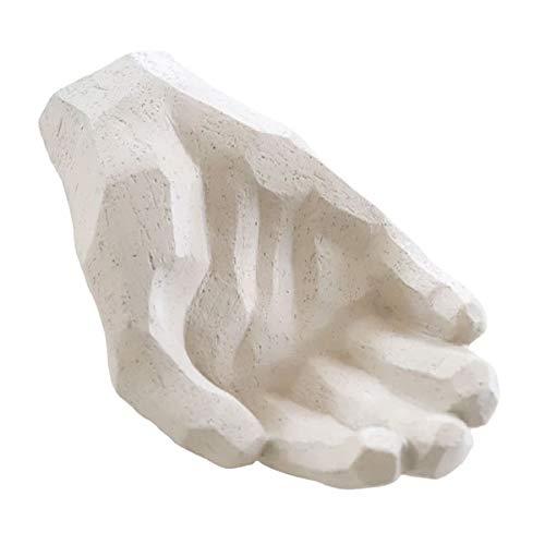 Cooee Design - Skulptur - Bless - Hand - Beton - Limestone Beige - Maße (LxBxH): 20,5 x 12 x 6 cm