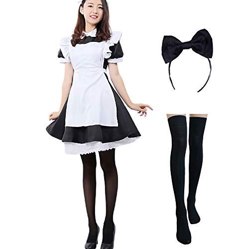 Alicia en el país de Las Maravillas Cosplay Maid Dress Lolita Disfraces...