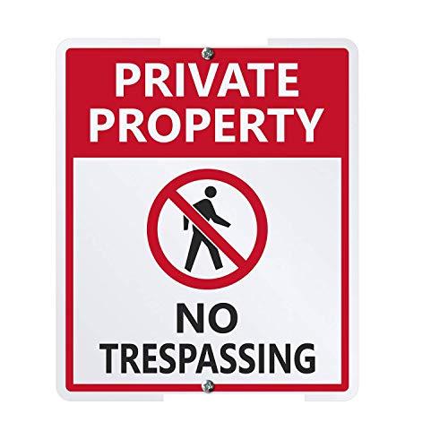SIBIAN Private Property – No Trespassing LawnBoss with 'Stack Retro Metal Sign Nostálgico Car Garage Decoración Hogar Cocina Bar Decoración Colgante 12 x 8 pulgadas