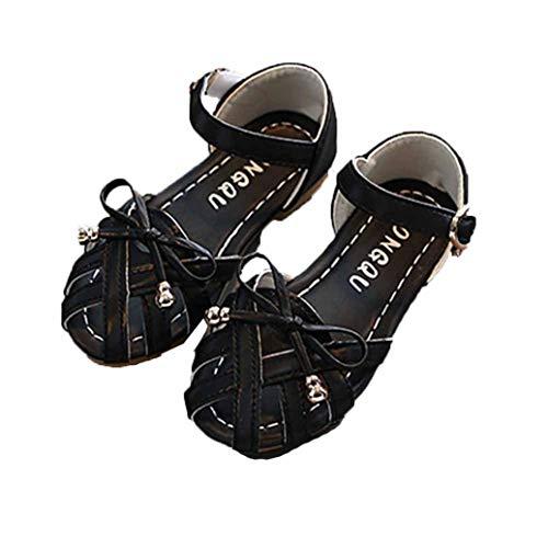 Sandalia para niñas Summer Hollow out Zapatos Cerrados Transpirables de Princesa Casual Zapatos Lindos Bowknot Soft Sole Sandalias de Playa