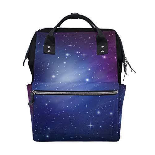 Sac à langer grande capacité, sac à dos à langer pour bébé - Galaxy Star - Sac à dos de voyage élégant multifonction étanche pour maman et papa