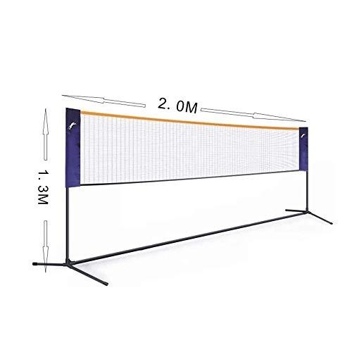 LYYJIAJU Badminton Net Set, beweglicher Sport Set for Badminton, Tennis, Kinder Volleyball, Pickleball, Easy Setup, Nylon-Netz mit Polen for Indoor Outdoor Court (Size : 1.55M*3.1M)