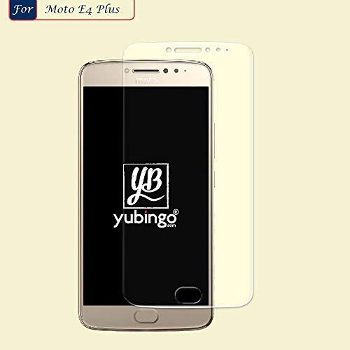 YuBingo Screen Guard for Motorola Moto E4 Plus (Flexible. Shatter & Scratch Resistant, HD Clarity, Case Friendly)