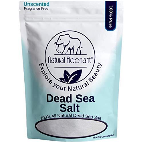 Natural Elephant Dead Sea Salt 100% Natural & Pure 1 lb, 2 lb, 5 lb, 10 lb Bag Fine Grain for Psoriasis Eczema Acne & other Dermatological Needs, 1 lb, 450 g