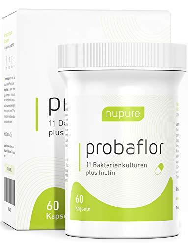 Kulturen Komplex - 60 Kapseln + Inulin - 11 Stämme - magensaftresistent - Probaflor mit Milchsäurebakterien und Bifidobakterien - 2 Monatsvorrat