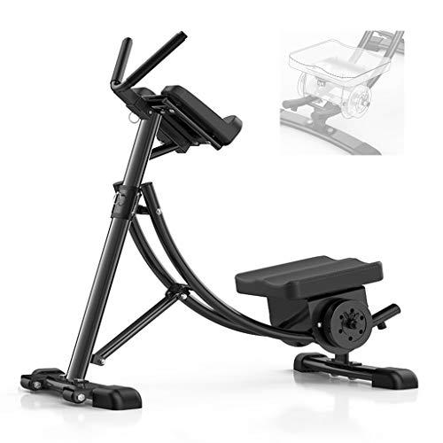 Fitness Core & Abdominal Trainer AB Fitnessgerät Home Gym Krafttraining Bauchmuskel Faltbare Fitnessgeräte (Color : Black, Size : 67 * 130 * 127cm)