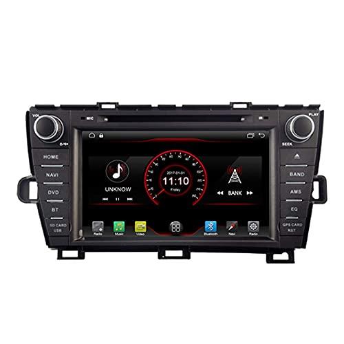 Android 10 Car DVD Player Radio Head Unit GPS Navi STEREO para TOYOTA PRIUS 2009 2011 2011 2013 2013 2014 2015 Versión de la mano izquierda Versión WiFi BT Control de volantes