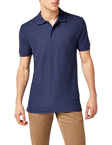 Fruit of the Loom Herren 65/35 Poloshirt, Blau-Blue (Deep Navy), L