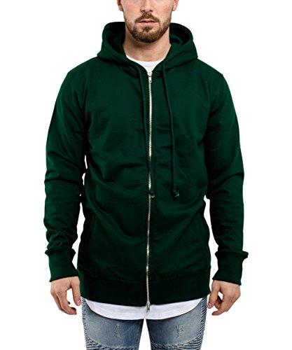 Blackskies Raw Hem Sweatshirt Mannen lange trui Oversized Sweater Grijs Antraciet Groen