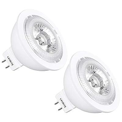 Luxrite LED MR16 Bulb, 12V, 7W (50W Equivalent), 2700K Warm White, 25° Narrow Spotlight, 500 Lumens, Dimmable, GU5.3 LED Bulb, UL Listed