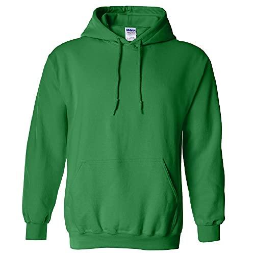 Gildan Men's Fleece Hooded Sweatshirt, Style G18500, Irish Green, Medium