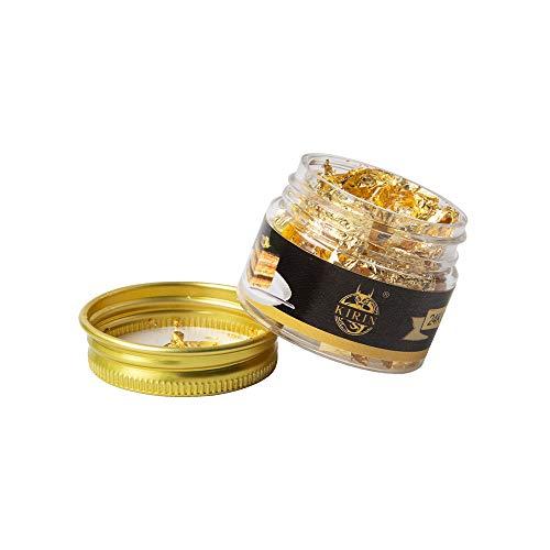 KIRIN Foglie d'oro Commestibili Genuino Foglia Oro Decorazione, per Cucinare, Decorazione di Torte, Cioccolatini, Salute e Spa(25 MG/Bottiglia)