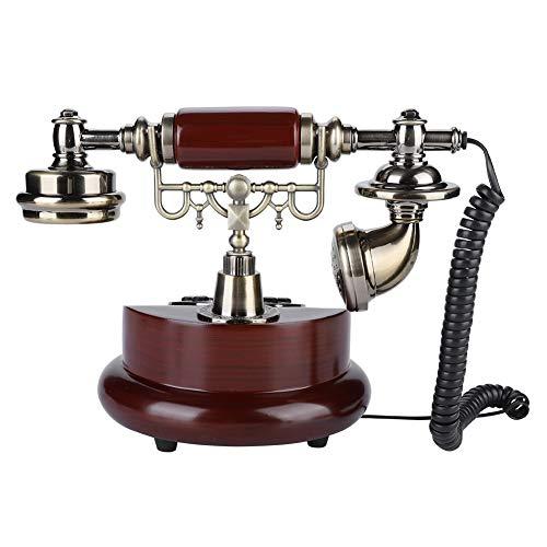 Uxsiya Teléfono fijo con alambre, teléfono FSK/DTMF del dial de la función de pausa con el manual inglés para la decoración del sitio