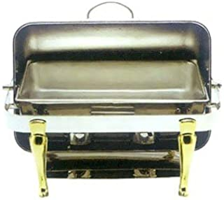 Winco Full Size Chafer withGold Plated Handle & Leg