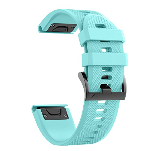 Affordable ANCOOL Compatible with Fenix 5 Band Easy Fit 22mm Width Soft Silicone Watch Strap Replace...