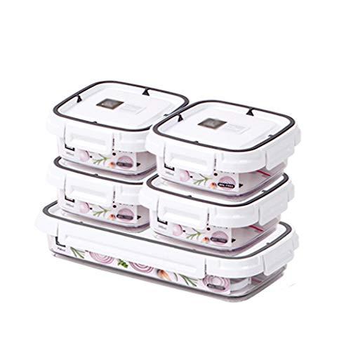 xiaoli Fiambrera Box Lunch Microondas Calefacción Bento refrigerado Caja sellada de Almacenamiento a Prueba de Fugas envase de alimento Fresco de...