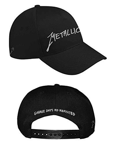 Metallica Baseball Cap Garage Days Silber Band Logo Nue offiziell Schwarz