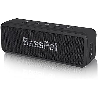 BassPal Shower Radios IPX7 Waterproof Portable Wireless Bluetooth Speaker
