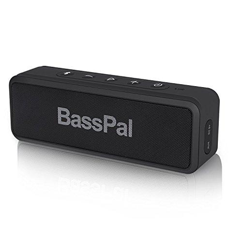 BassPal SoundRo X3 Altoparlante Bluetooth portatile con audio stereo, bassi ricchi, riproduzione 24 ore, gamma da 66 piedi, microfono, altoparlante wireless esterno impermeabile