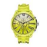 Diesel Reloj Analógico para de los Hombres de Cuarzo con Correa en plástico, Amarillo DZ4532