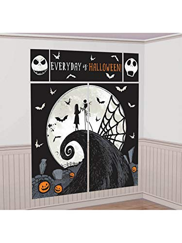amscan 672052 Nightmare Before Christmas Scene Setter with Props 7 in a Package, Multi, 17 Piece Set