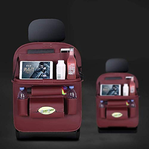 Organizadores universales para asientos traseros de automóvil con múltiples bolsillos - Fundas protectoras multifunción impermeables con caja de pañuelos y soporte para juguetes para niños Botellas Ap