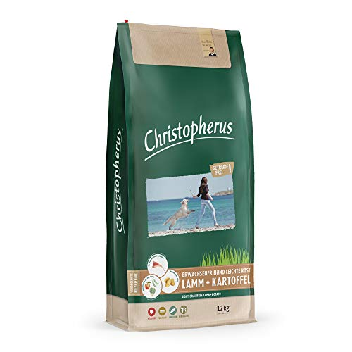 Christopher Light Grainfree - Aliment Complet pour Chiens Adultes avec surpoids ou Faible activité, Nourriture sèche, Agneau + Pommes de Terre, Taille de Crocodile : Environ 1 cm - Chien Adulte