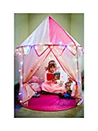 Princess Castle Play Tent for Kids. With Multi-Coloured Star Lights and a Cuddly Rainbow Frog. Prett...