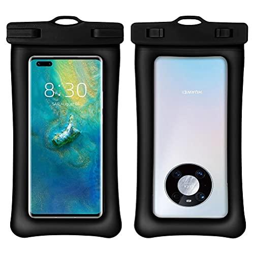 RUSTOO Funda Impermeable para teléfono, Funda Impermeable para teléfono, Bolsa Impermeable para teléfono móvil con Doble airbag, Funda Impermeable para teléfono Universal IPX8, Bolsa Seca
