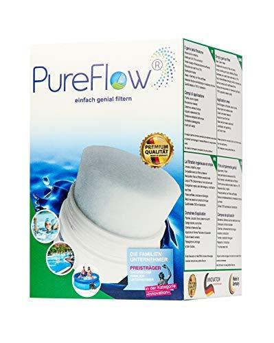 PureFlow Cartridge 3D Filterkartusche PFC-011.010.02 für Whirlpool - Jaccuzi - Aufstellpool, Poolfilter für Kartuschenfilter - Ersetzt Intex A Modell 29000