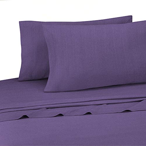 Brooklyn Flat Jersey Knit Sheet Set, King, Ultra Violet
