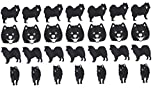 Chien Samoyède Samoyed dog vinyle autocollants vinyle décalcomanies vinyl stickers vinyl decals