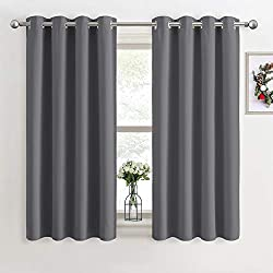 """Ready Made - Package includes 2 pieces, each measures 46"""" wide by 54"""" drop, the depth measures from the top of the eyelet. For proper fullness, panels should measure 1.5-2.6 times the width of the curtain pole. Top Eyelet - 8 silver chromes(inner dia..."""