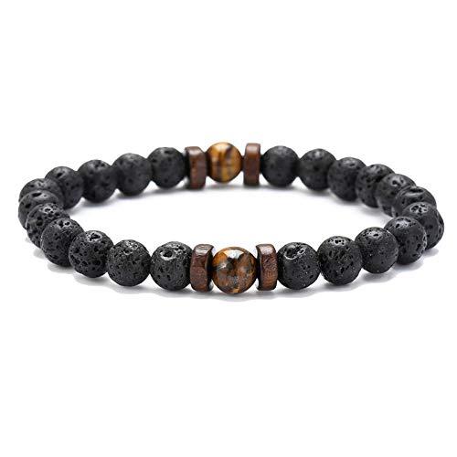 MCAdianpu Lava kraal stenen mannen armband natuurlijke maansteen Tibetaanse Boeddha armband Chakra Diffuser armbanden mannen sieraden geschenken